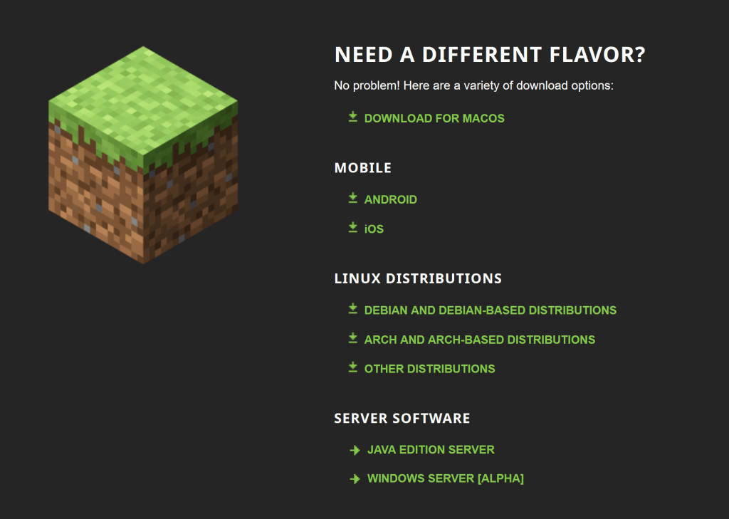 can you download minecraft for linux mint