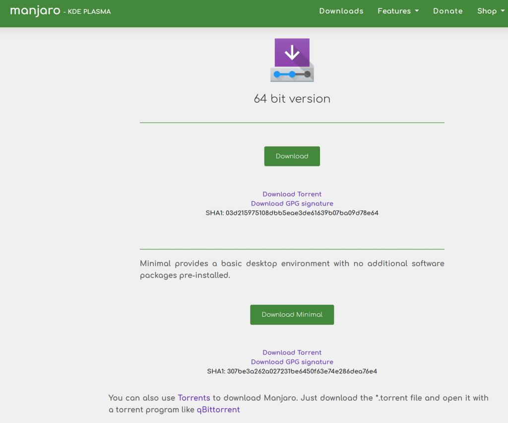download linux manjaro 2021