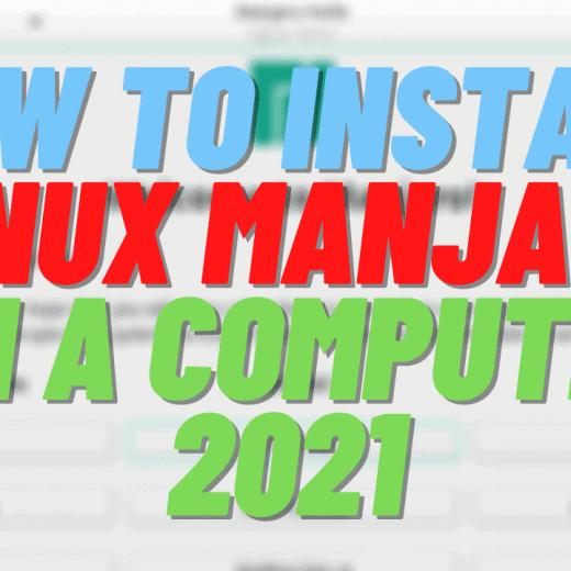 linux manjaro