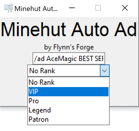 Automatically Advertise Your Minehut Server while AFK