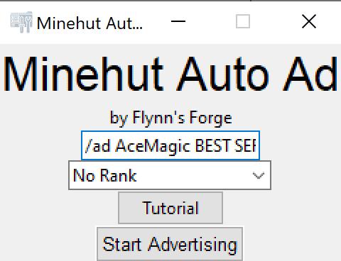 minehut auto advertisements